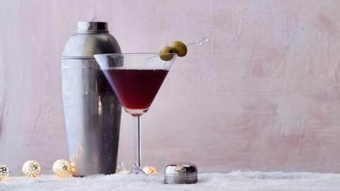 Homemade martini