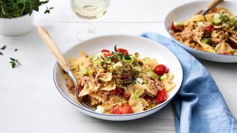 Razendsnelle pasta met tonijn