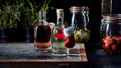 Gin met aardbeismaak