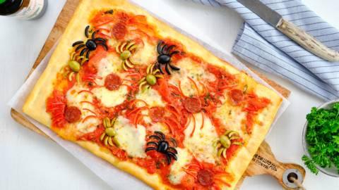 Halloween griezelpizza's