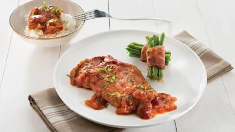 Lamsboutsnede in Italiaanse tomatenstoof