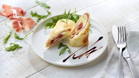 Piadina met mozzarella en Parmaham