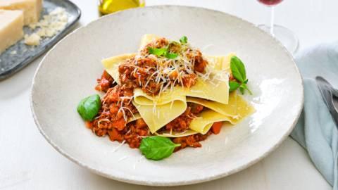 Open lasagne al ragù