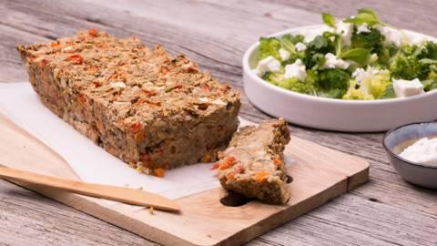 Vegetarisch groentebrood met broccoli en feta