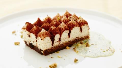 Tiramisu met wittechocolade-pistachecrème