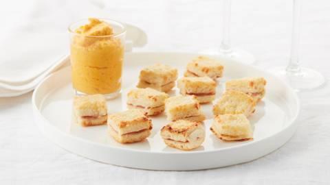 Minicroques met zelfgemaakte wortelmayonaise