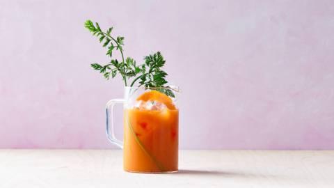 Wortel-sinaasappelsap