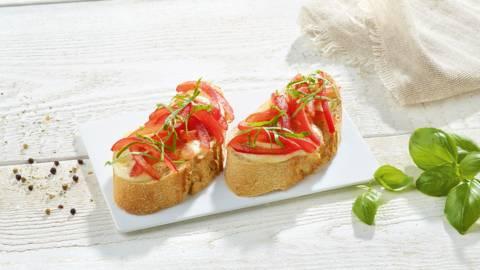 Ciabatta met buffelmozzarella en tomaat