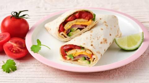 Burrito met ei en spek