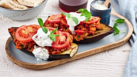 Gevulde aubergines op z'n Turks
