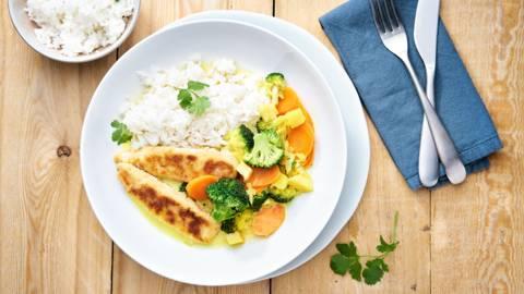 Crispy kip curry