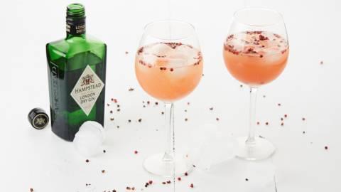 Gin-tonic met citrus en kruiden