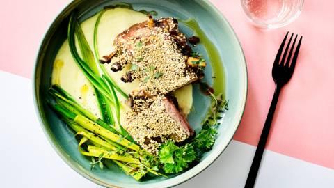Lamskroon met quinoa