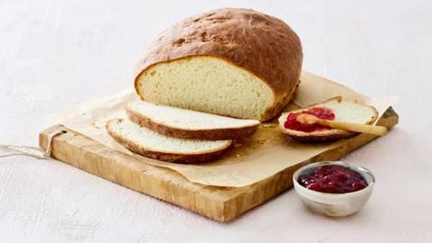 Zoet broodje met limoen en yoghurt