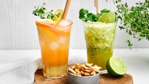 Mocktails van citrus en ananas