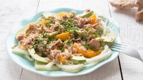 Salade van venkel en tonijn
