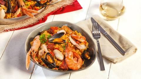 Paella met kip