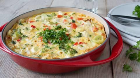 Tortilla met restjes
