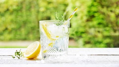 Gin-tonic met honing & limoen