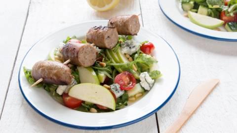 Zomerse salade met boerenworst