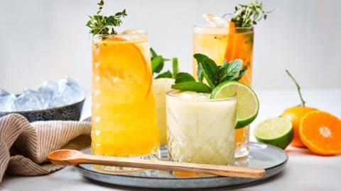 Ananas kokosmocktail - Mandarijn-tijmmocktail
