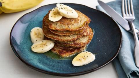 Havermout-ontbijtpannenkoekjes met citroen