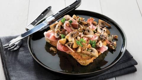 Toast champignon met spekkelbrood