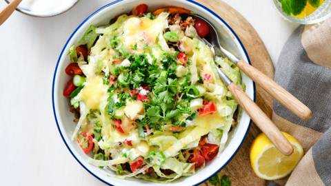 Healthy vegetarisch kapsalon