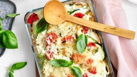 Smeuïge vegetarische ovenschotel