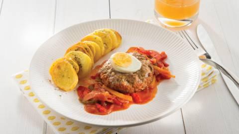 Provençaals vogelnestje met krokante aardappelschijfjes