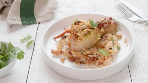 Zweedse kip met rijst