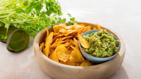 Guacamole met nacho's