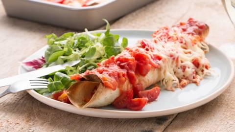 Enchilada's met restjes groenten