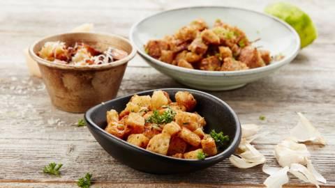 Croutons op 3 wijzen: met limoen, kaas of knoflook