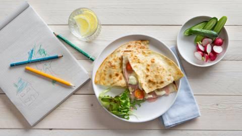 Quesadilla's met ham en kaas