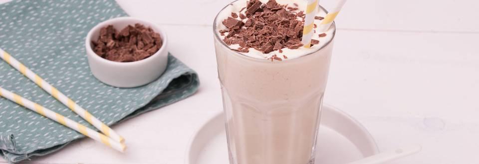 Banana chocolate chip milkshake