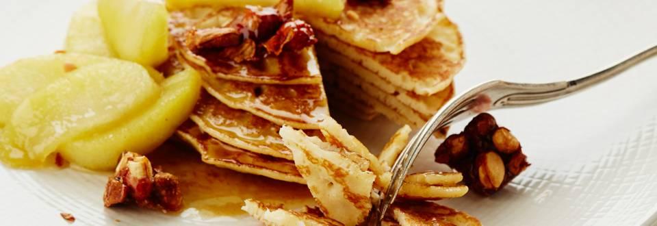 Dessertpannenkoekjes met appelcompote