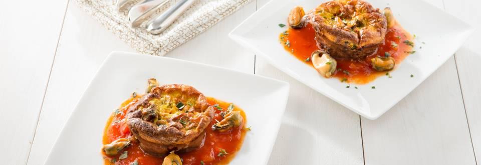Frittata van mosselen met tomatensalsa