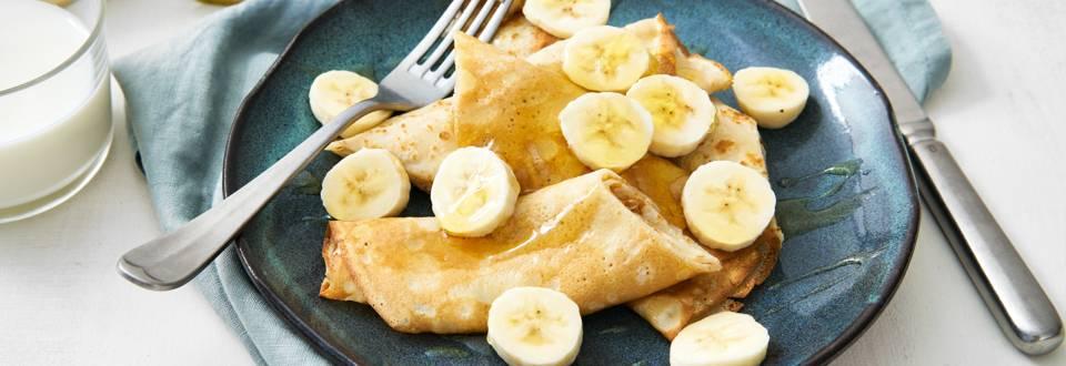 Sportpannenkoek met banaan en honing