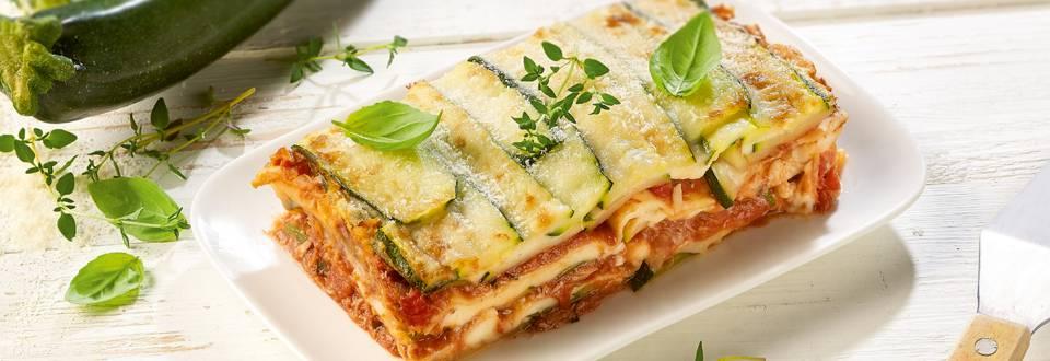Lasagne met courgette en tonijn