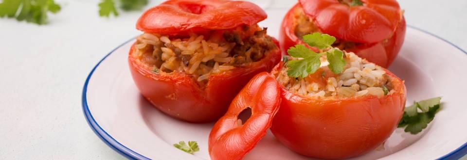 Gevulde tomaten op z'n Grieks