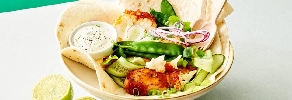 Taco's met geroosterde bloemkool