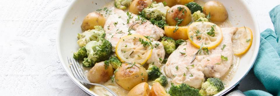 Citroenkip met broccoli