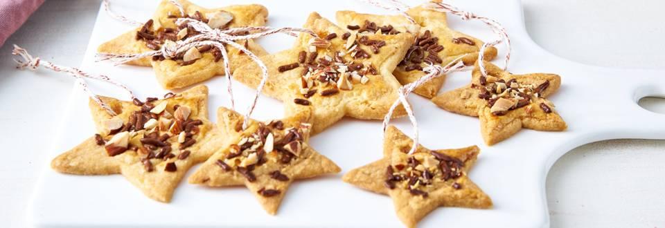 Kerststerren (koekjes) voor in de kerstboom