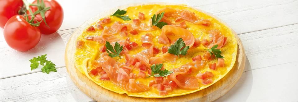 Omelet met biozalm