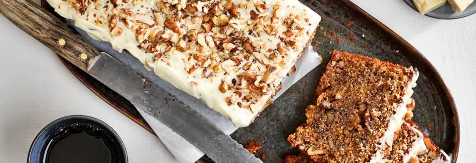 Walnotencake met witte chocolade