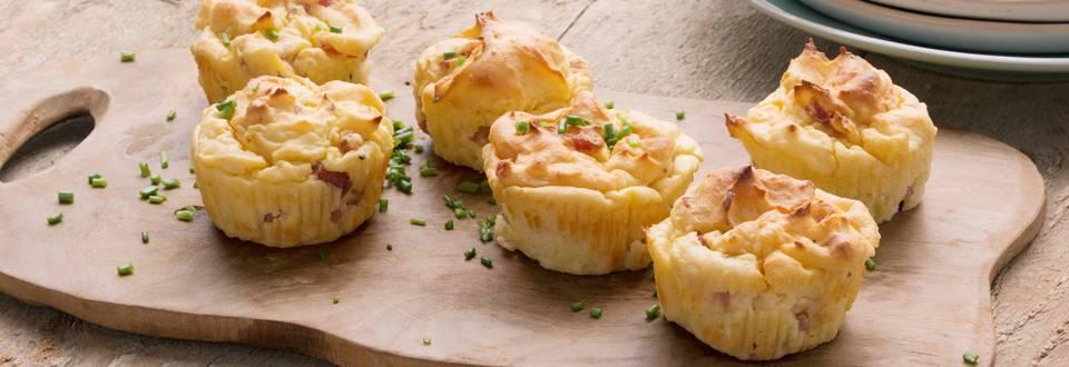 Aardappelmuffins met ham