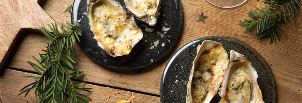 Gegratineerde oesters met parmigiano reggiano