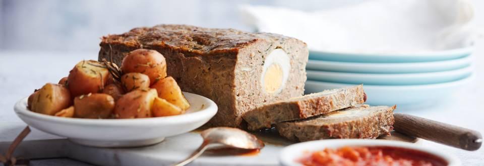 Gehaktbrood met eieren