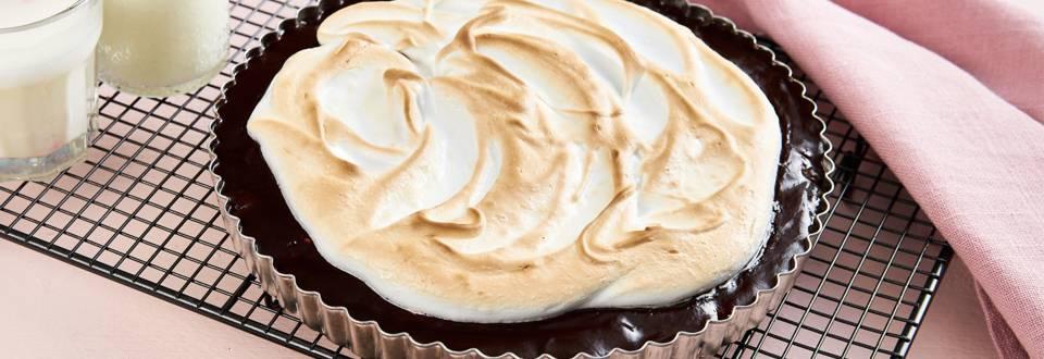 Chocoladetaart met meringue